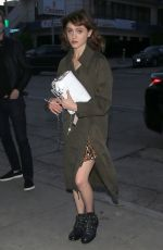 NATALIA DYER Out in West Hollywood 03/27/2018