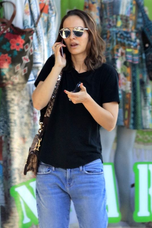 NATALIE PORTMAN in Jeans Out in Los Angeles 03/27/2018
