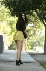 NATASHA BLASICK in Yellow Dress Out in Hollywood 02/28/2018