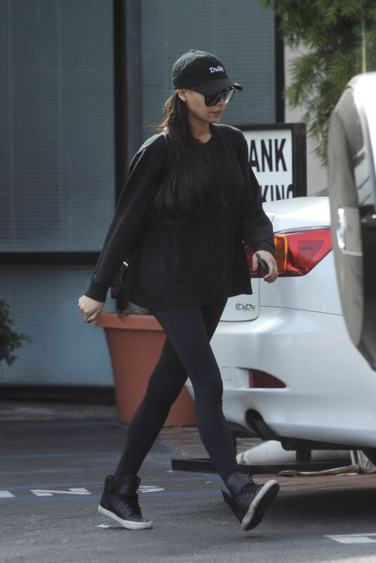 NAYA RIVERA Leaves a Bank in Los Angeles 03/30/2018