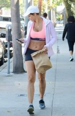 NICOLE MURPHY in Sports Bra and Shorts Out Shopping in Los Angeles 03/28/2018