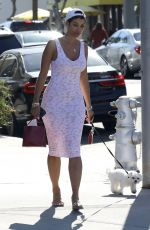 NICOLE MURPHY in Tight Dress Out with Her Dog in Beverly Hills 03/28/2018