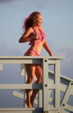 NIKKI LUND in Bikini on the Set of a Photoshoot in Malibu 03/06/2018