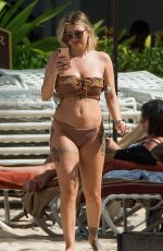 OLIVIA BUCKLAND in Bikini on the Beach in Barbados 03/16/2018