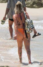 OLIVIA BUCKLAND in Bikini on the Beach in Barbados 03/18/2018