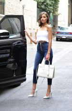 OLIVIA CULPO in Tube Top and Tight Jeans Out in Los Angeles 03/20/2018