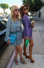PARIS and NICKY HILTON Out on Robertson Blvd in West Hollywood 03/17/2018