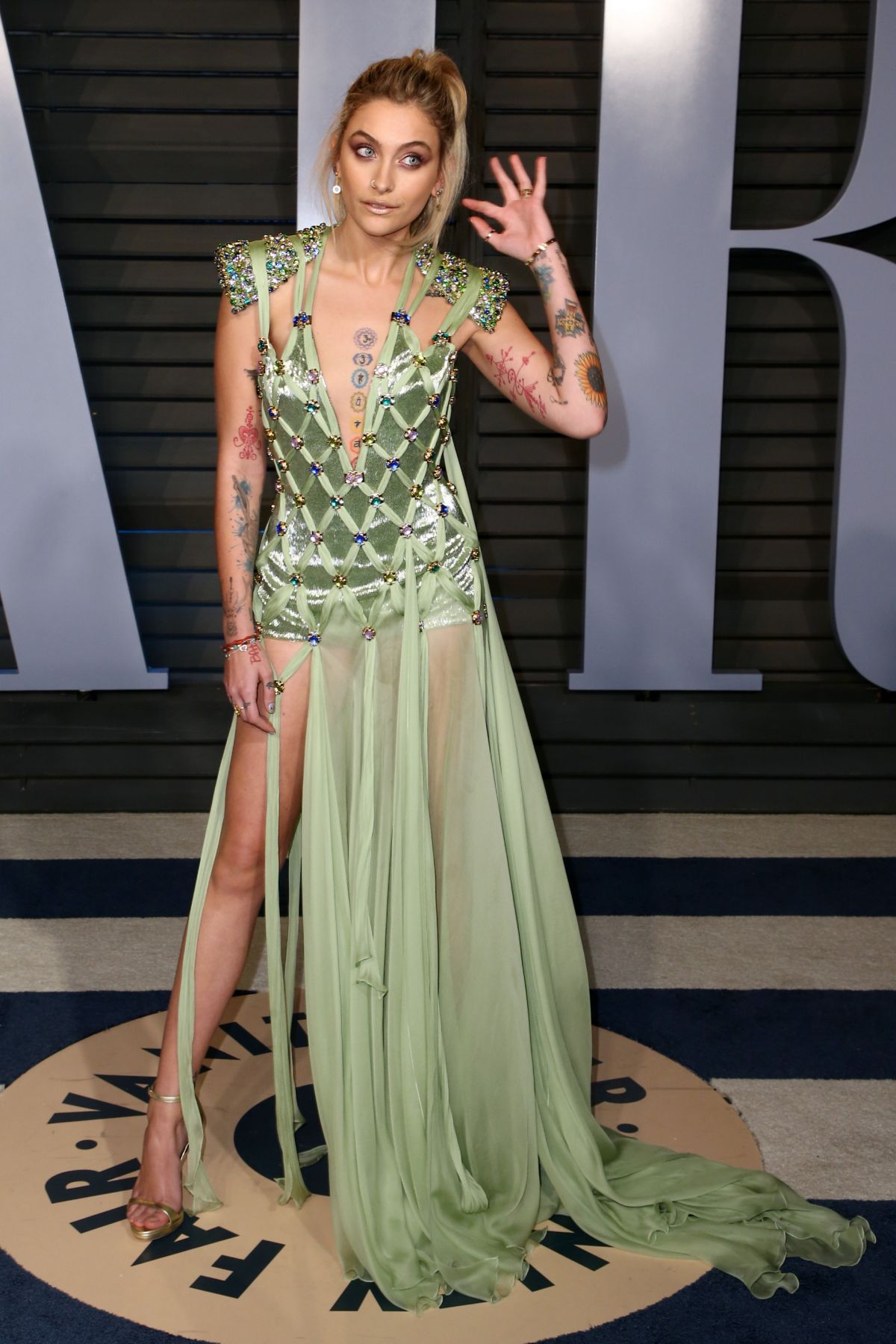 Paris Jackson At 2018 Vanity Fair Oscar Party In Beverly Hills 03 04 2018 Hawtcelebs