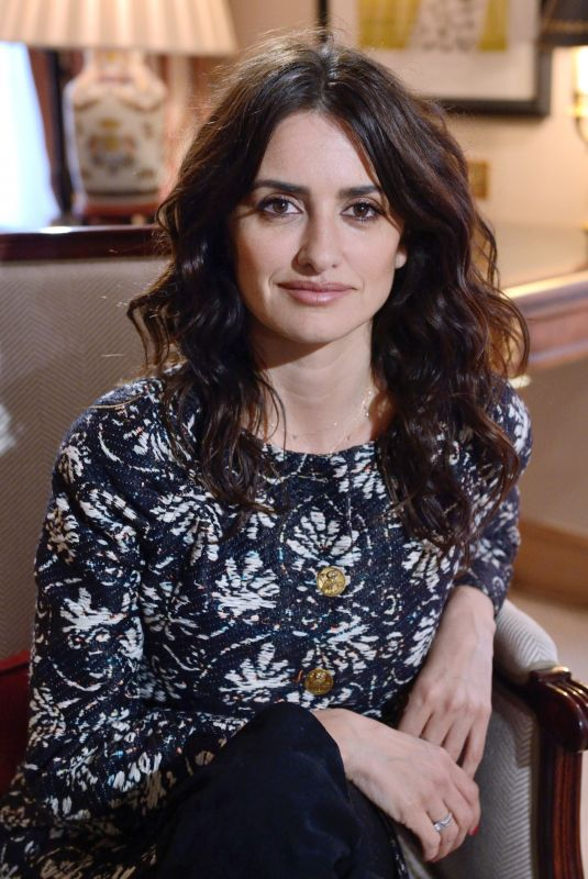 PENELOPE CRUZ at an Interview for BFM TV in Paris 03/02/2018