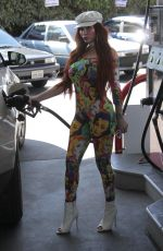 PHOEBE PRICE at a Gas Station in Beverly Hills 03/23/2018