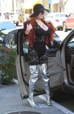 PHOEBE PRICE Out and About in Beverly Hills 03/19/2018