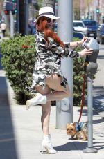 PHOEBE PRICE Out with Her Dog in Beverly Hills 03/26/2018
