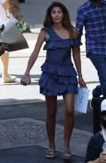 PIA MILLER Shopping at Eq Markets in Moore Park in Sydney 03/24/2018