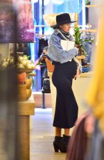 Pregnant CANDICE SWANEPOEL Out in New York 03/16/2018