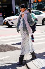 Pregnant CANDICE SWANEPOEL Out in New York 03/23/2018