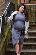Pregnant CASEY BATCHELOR Out for Lunch in Essex 03/23/2018