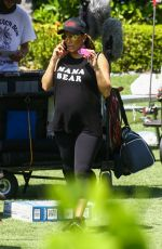 Pregnant EVA LONGORIA on the Set of Grand Hotel in Miami 03/19/2018