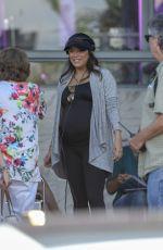Pregnant EVA LONGORIA Out in Miami 03/17/2018