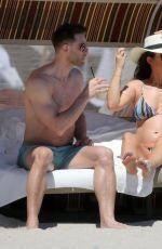Pregnant KATIE WAISSEL in Bikini at a Beach in Miami 03/14/2018