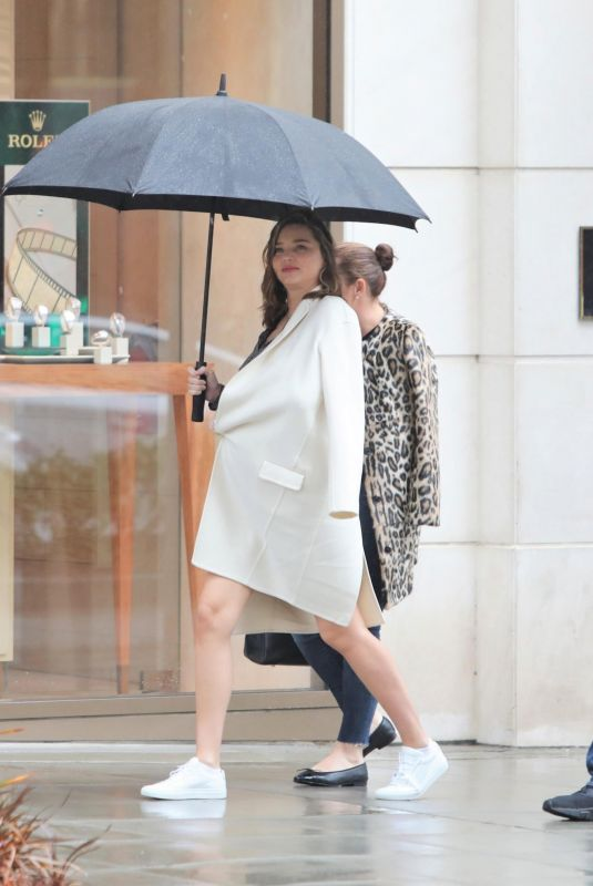 Pregnant MIRANDA KERR Out Shopping in Beverly Hills 03/03/2018