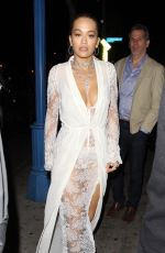 RITA ORA Arrives at Delilah in West Hollywood 03/13/2018