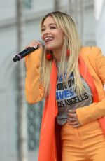 RITA ORA at March for Our Lives in Los Angeles 03/24/2018