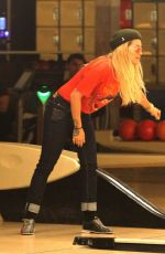 RITA ORA Night Out at Shatto 39 Lanes in Los Angeles 03/21/2018