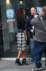 ROCHELLE HUMES Arrives at Heart Radio in London 03/10/2018