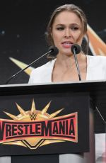 RONDA ROUSEY at WWE Press Conference at Met Life Stadium in East Rutherford 03/16/2018