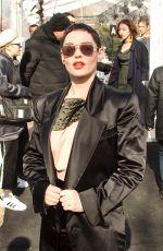 ROSE MCGOWAN at Vivienne Westwood Fashion Show at PFW in Paris 03/03/2018