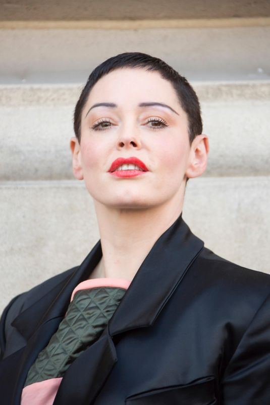 ROSE MCGOWAN at Vivienne Westwood Fashion Show at PFW in Paris 03/03/2018