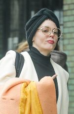 ROSE MCGOWAN Leaves Her Hotel in New York 03/20/2018
