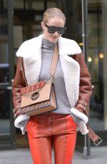 ROSIE HUNTINGTON-WHITELEY Leaves Crosby Hotel in New York 03/27/2018