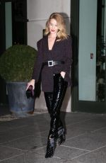 ROSIE HUNTINGTON-WHITELEY Leaves Her Hotel in New York 03/28/2018