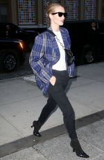 ROSIE HUNTINGTON-WHITELEY Out and About in New York 03/26/2018