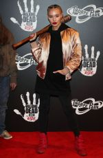 ROXY HORNER at The Walking Dead: The Ride Media Night at Thorpe Park in London 03/29/2018