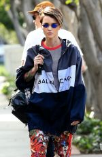 RUBY ROSE at Kate Somerville Skin Care Clinic in West Hollywood 03/19/2018