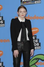SADIE SINK at 2018 Kids' Choice Awards in Inglewood 03/24/2018