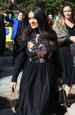 SALMA HAYEK Leaves Diane Von Furstenburgs Oscar Luncheon in Los Angeles 02/28/2018