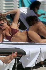 SAMANTHA HOOPES in Bikini at a Beach in Miami 03/17/2018