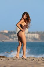 SAMMY MITCHELL in Swimsuit on the Set of a Photoshoot in Malibu 03/24/2018