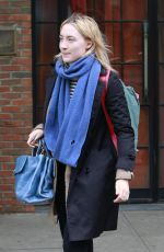 SAOIRSE RONAN Leaves Bowery Hotel in New York 03/01/2018