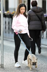 SARAH JEFFERY Out with Her Dog in Vancouver 03/19/2018