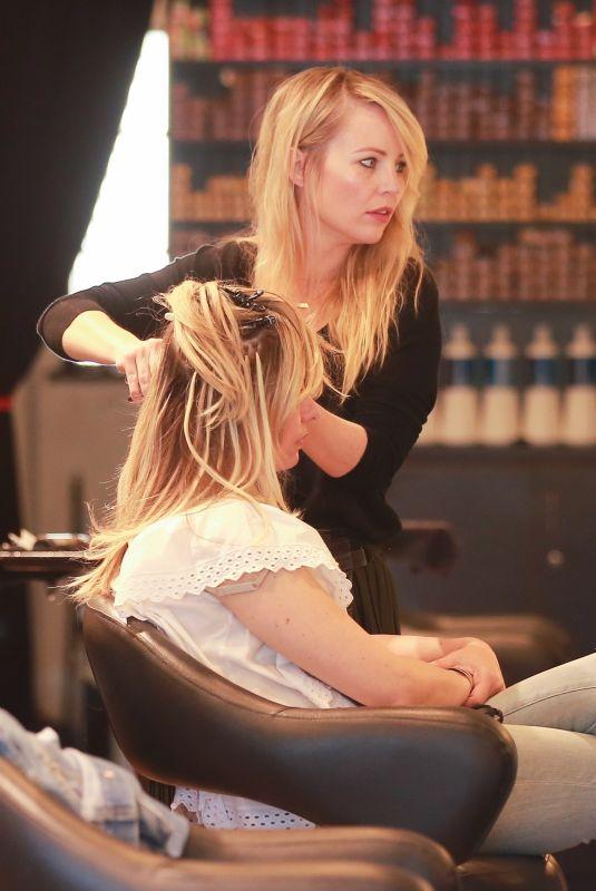 SARAH MICHELLE GELLAR at a Hair Salon in Brentwood 03/28/2018