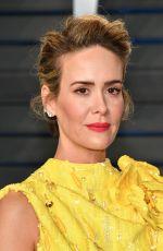 SARAH PAULSON at 2018 Vanity Fair Oscar Party in Beverly Hills 03/04/2018