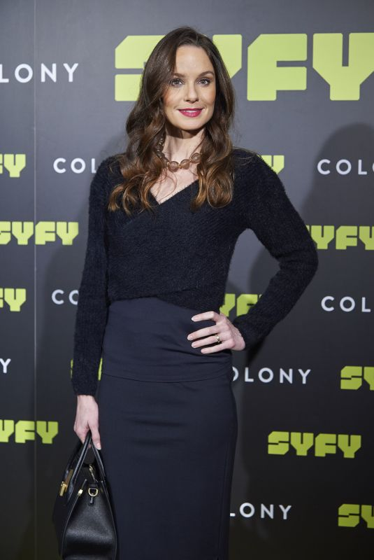SARAH WAYNE CALLIES at Colony Photocall in Madrid 03/08/2018