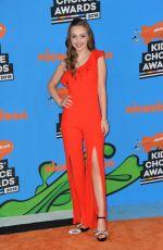 SAVANNAH MAY at 2018 Kids' Choice Awards in Inglewood 03/24/2018