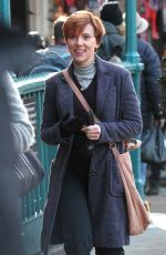 SCARLETT JOHANSSON on the Set of Noah Baumbach