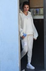 SELENA GOMEZ Arrives at Ice Skate in Los Angeles 03/26/2018