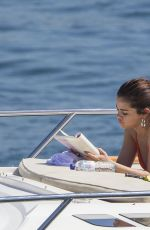 SELENA GOMEZ in Bikini at a Yacht in Sydney Harbour 03/19/2018